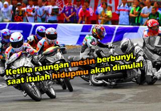 Gambar DP BBM Kata Kata Anak Racing Balap Motor