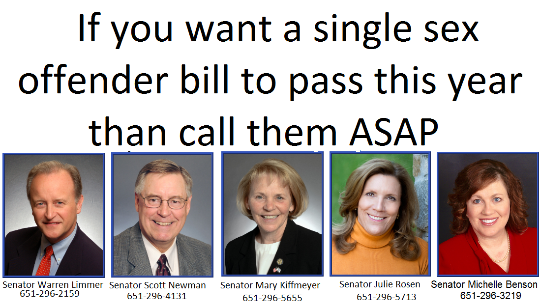 Recently passed sex offender senate bills