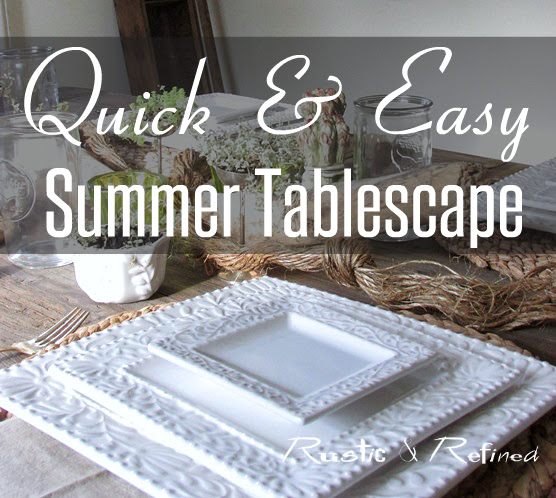 Summer Tablescape Idea that's Quick and Easy