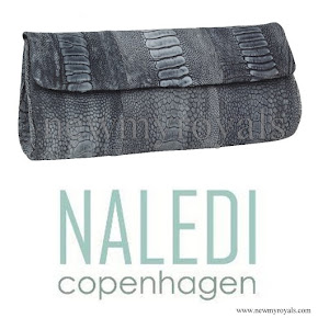 Princess Mary carried Naledi Copenhagen Brushed Ostrich Clutch