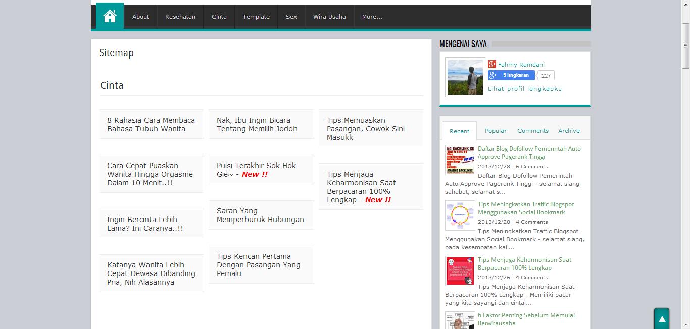 Cara Membuat Sitemap Keren DI Blogspot