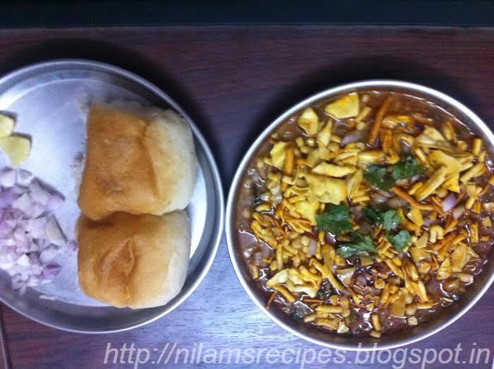 झणझणीत मिसळ पाव  Misal pav recipe in marathi,misal pav ...  Misal Pav Recipe In Marathi