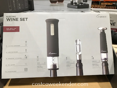 Costco 1163384 - Rabbit Rechargeable Wine Opener Set: great for any wine lover