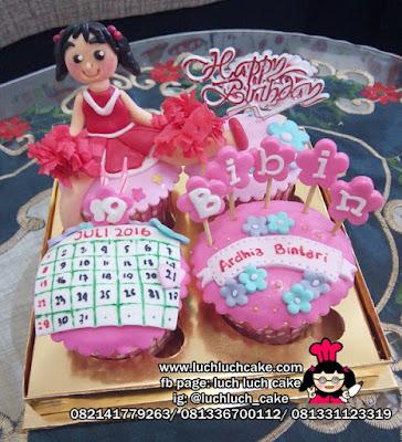 Cupcake Anak Perempuan Tema Cheerlearder