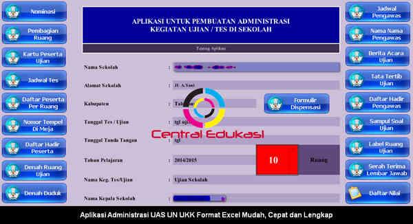 Download Aplikasi Administrasi UAS UN UKK