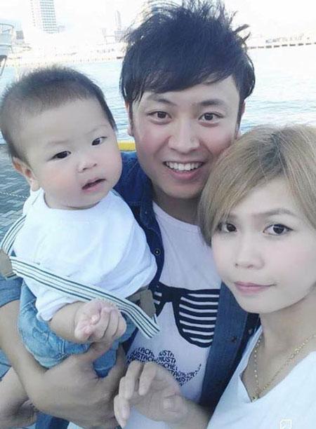 Kiều Thư hạnh phúc cùng chồng và con trai.