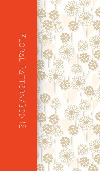 Floral Pattern[Gerbera]/Red 12