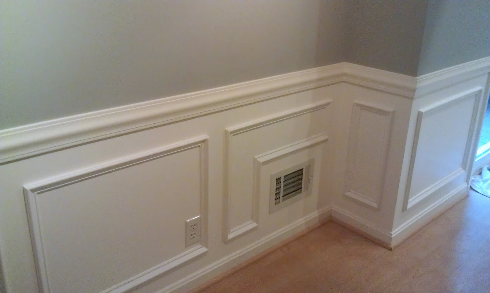 Picture Frame Moulding Below Chair Rail Office Icon Homemade By Holman Moldings And A Kitchen