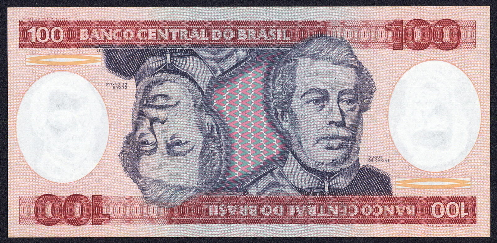 Brazil 100 Cruzeiros banknote 1983 Duke of Caxias World Banknotes & Coins Pictures   Old Money ...
