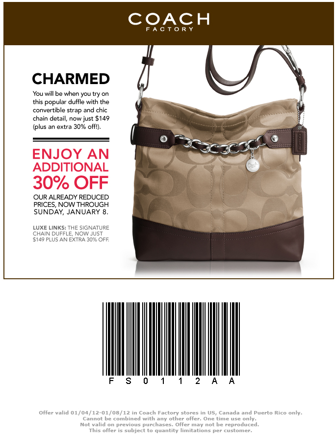 More About Coach Coupons