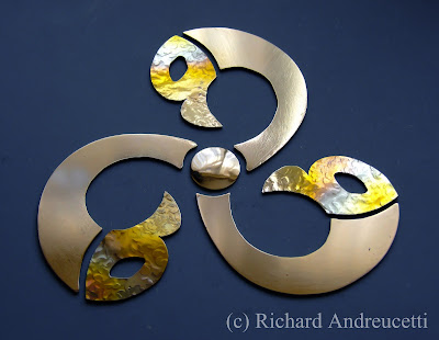 metalwork design, irish jewellery design,  irish metalwork artist, andreucettidesignstudio