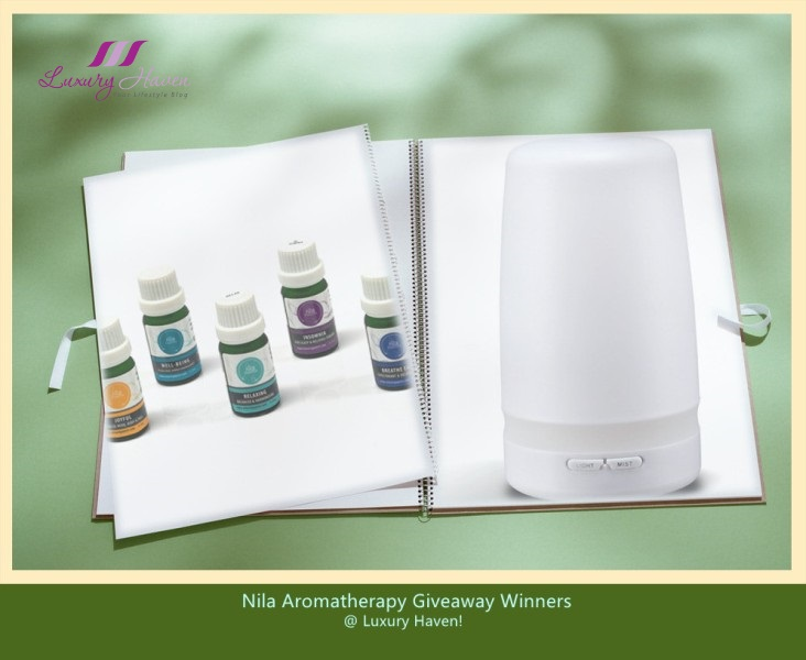 nila aromatherapy signature blends essential oil giveaway winners