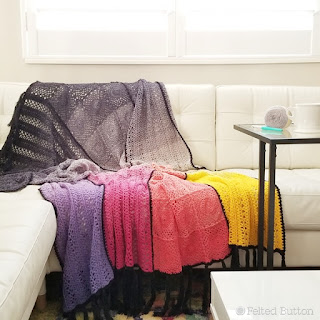 Aurora Blanket crochet pattern by Susan Carlson of Felted Button