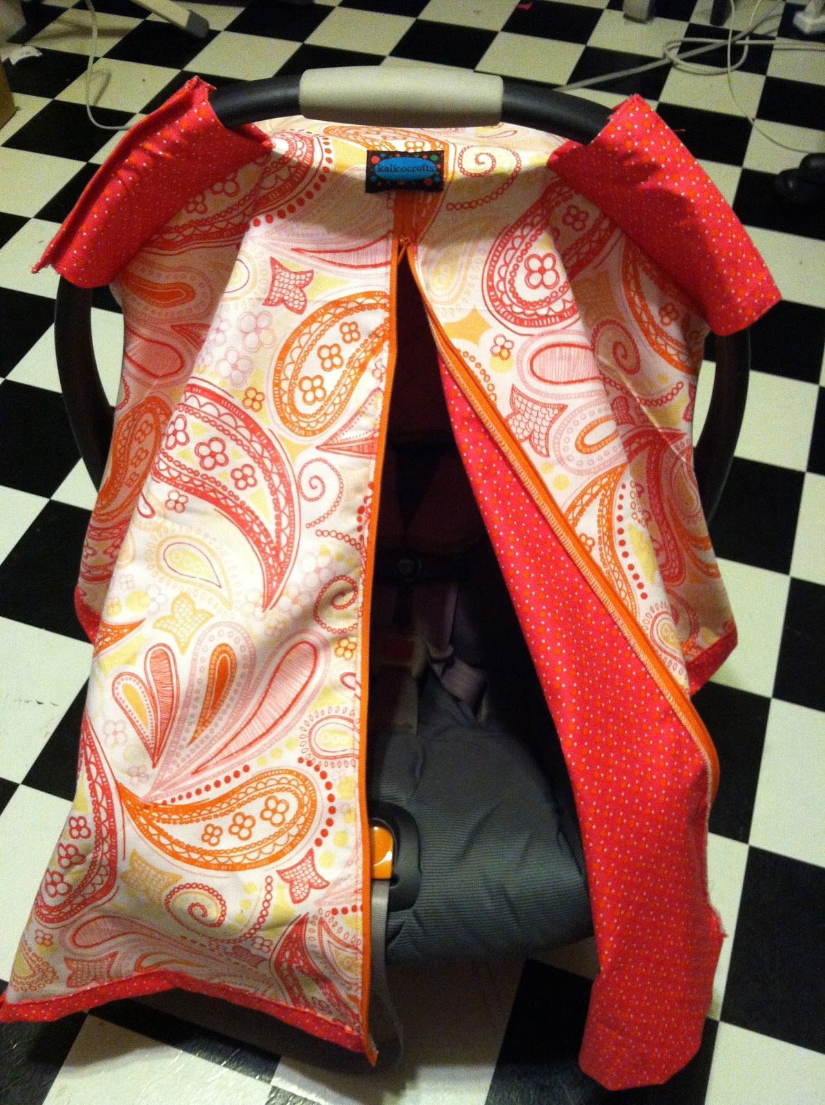 Kalicocrafts Paparazzi Shade Car Seat Canopy Cover