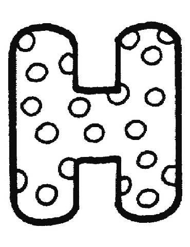 Preschool Coloring Sheets: Free Fancy Letters Alphabet Image