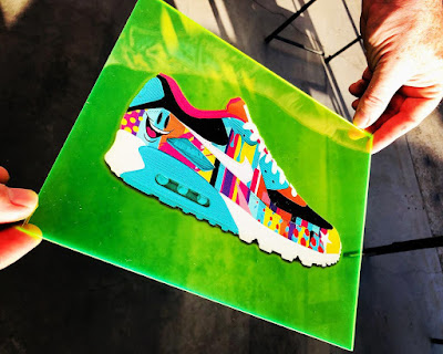 """What The Sket"" Air Max 90 Sneaker Print by Sket One x Nice Kicks x Sneaker Lab"