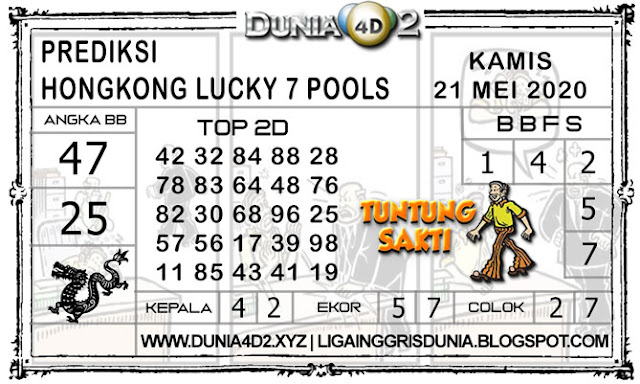 Prediksi Togel HONGKONG LUCKY7 DUNIA4D2 21 MEI 2020