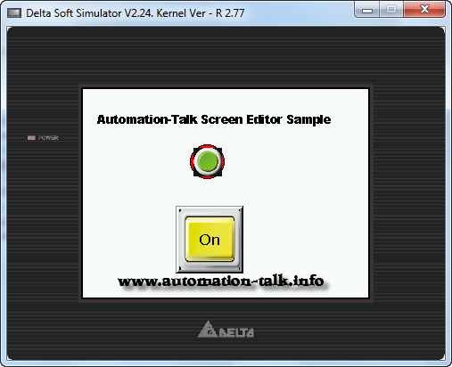 Screen Editor DOP B Sample HMI Program ~ Automation-Talk