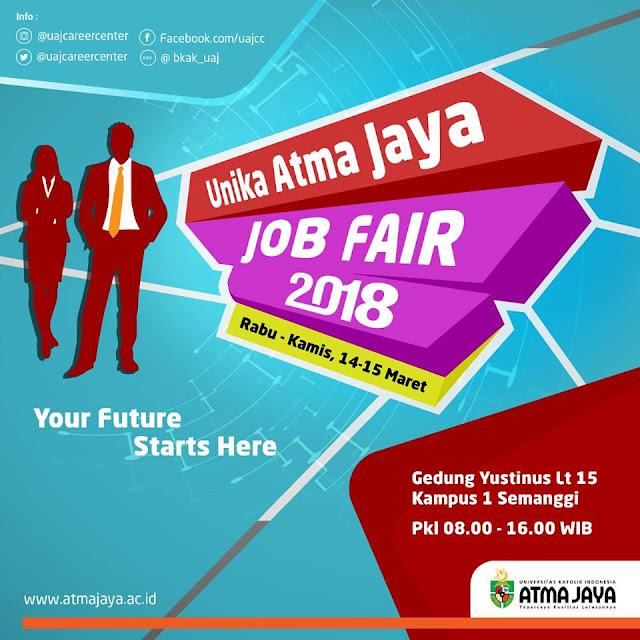 Job fair Unika Atma Jaya Maret 2018