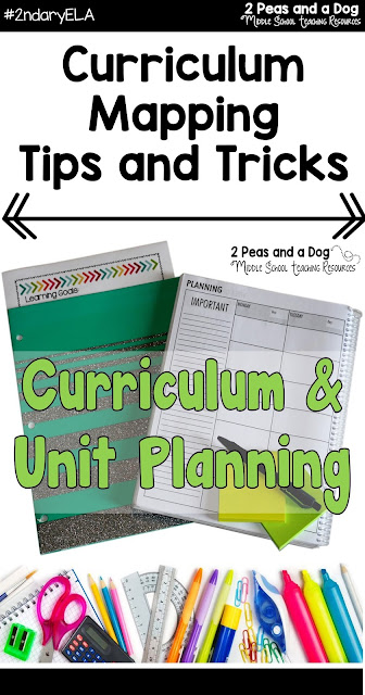 Curriculum mapping and unit planning can be overwhelming and frustrating. Read this blog post for curriculum planning tips for teachers by teachers from the 2 Peas and a Dog blog.