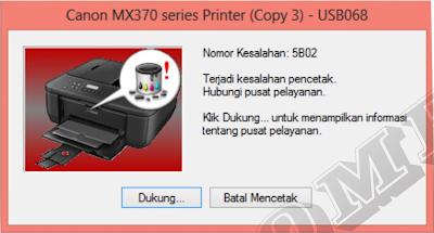 hari ini aku mendapati service printer dengan  Cara Reset dan Mengatasi Error 5B02 MX377