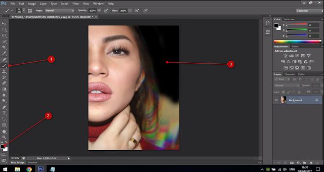 Cara Membuat Text Portrait Pada Wajah (Typography) 4