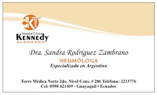 Tarjetas de presentación para neumólogos