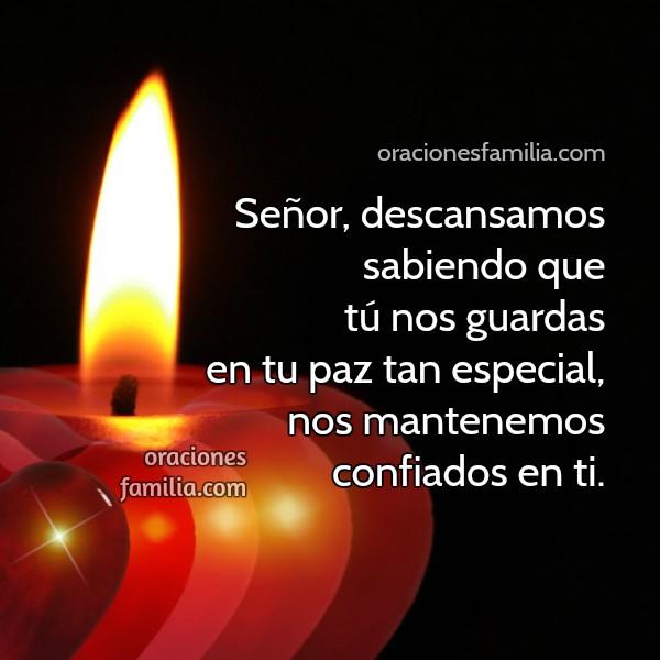 Oración cristiana de la noche descanso y paz, mensaje cristiano por Mery Bracho. Mi familia duerme tranquila en esta buena noche.