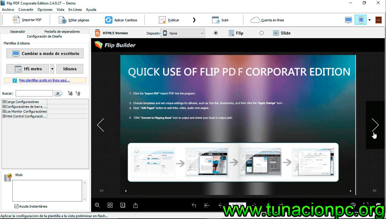 poderoso editor pdf conocido como Flip PDF Corporate Edition Full Gratis