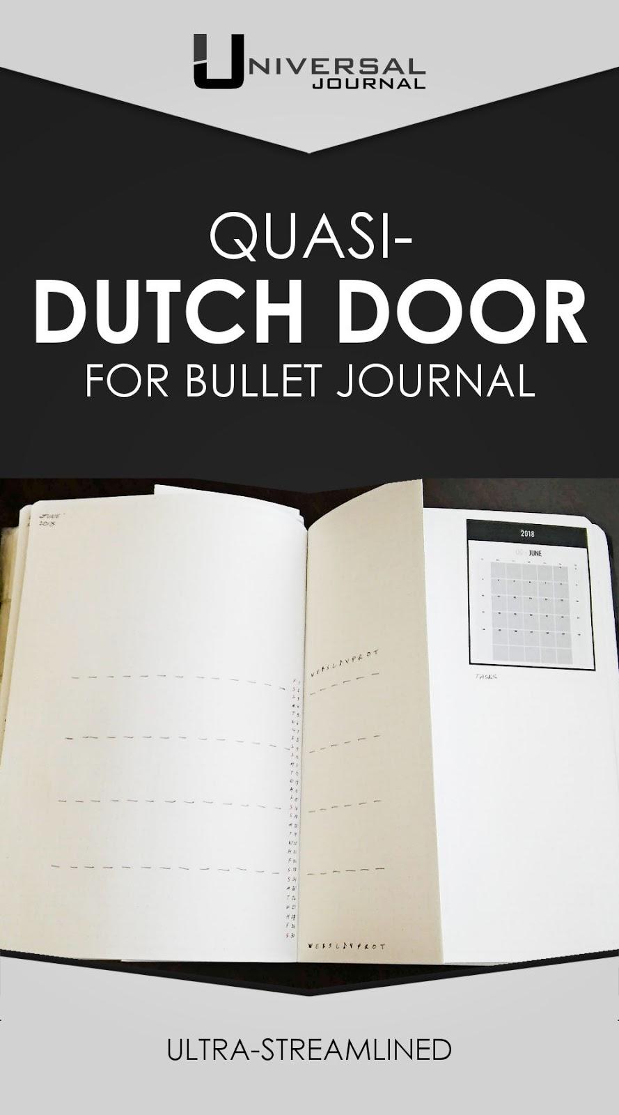 bullet journal minimalst dutch doore montly spread