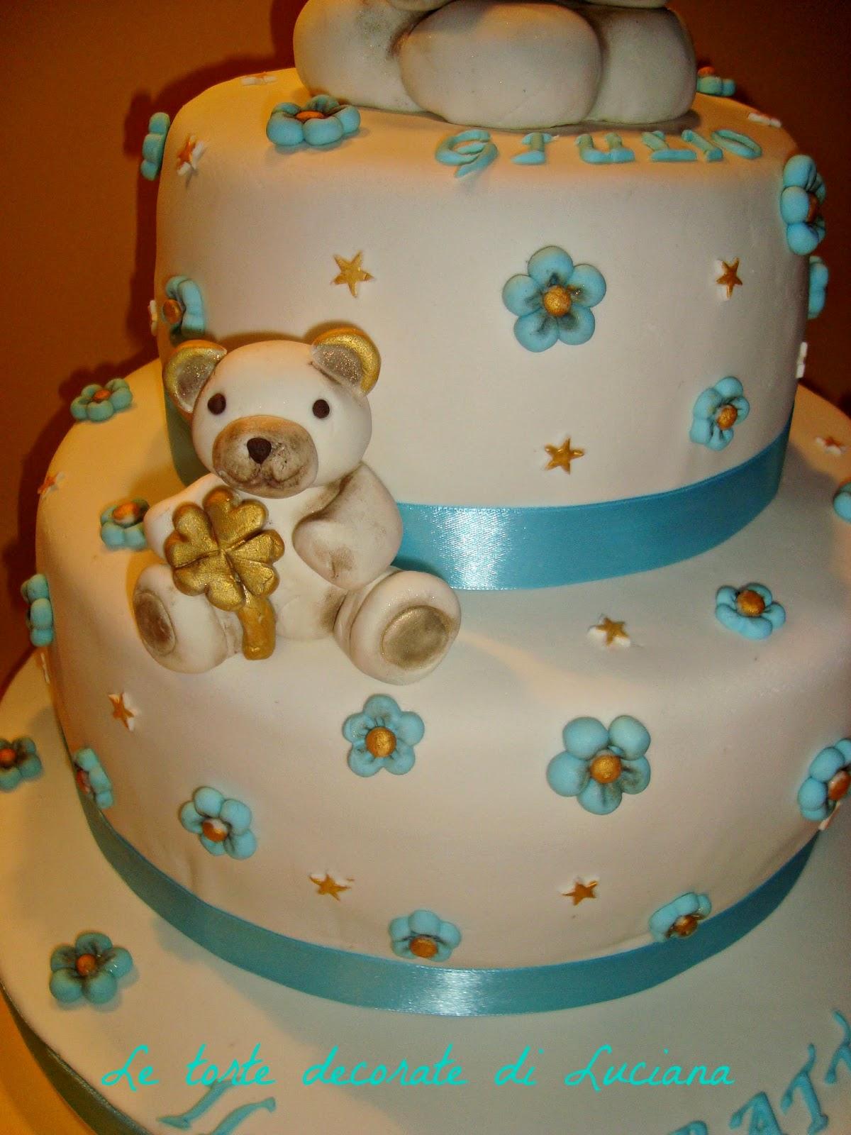 Estremamente le torte decorate: torta battesimo thun NA29