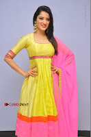 Actress Richa Panai Latest Pos in Yellow Anarkal Dress at Rakshaka Bhatudu Telugu Movie Audio Launch Event  0002.JPG