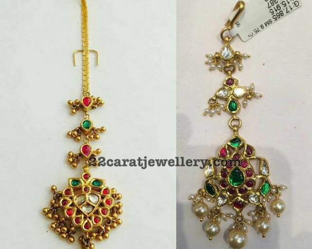 Simple Kundan Maang Tikka Designs
