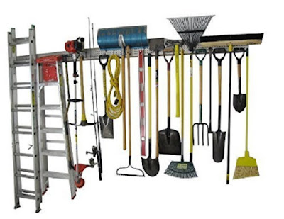 Garden tool wall rack