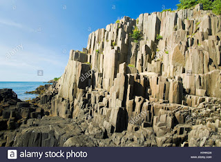 Basalt rock cliffs, Brier Island, Bay of Fundy; Nova Scotia, Canada (Credit: Design Pics Inc / Alamy Stock Photo) Click to Enlarge.