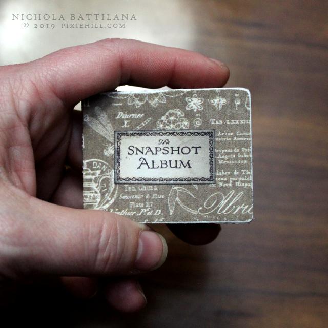 """Vintage"" miniature scrapbook - Nichola Battilana pixiehill.com"