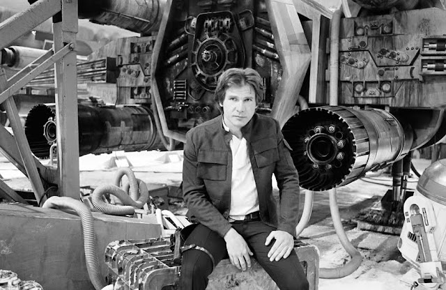 Harrison Ford on the Hoth set of Star Wars