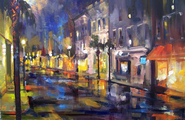 King Street Charleston SC Night