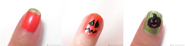 Halloween Inspired Nail Art using Crabtree and Evelyn