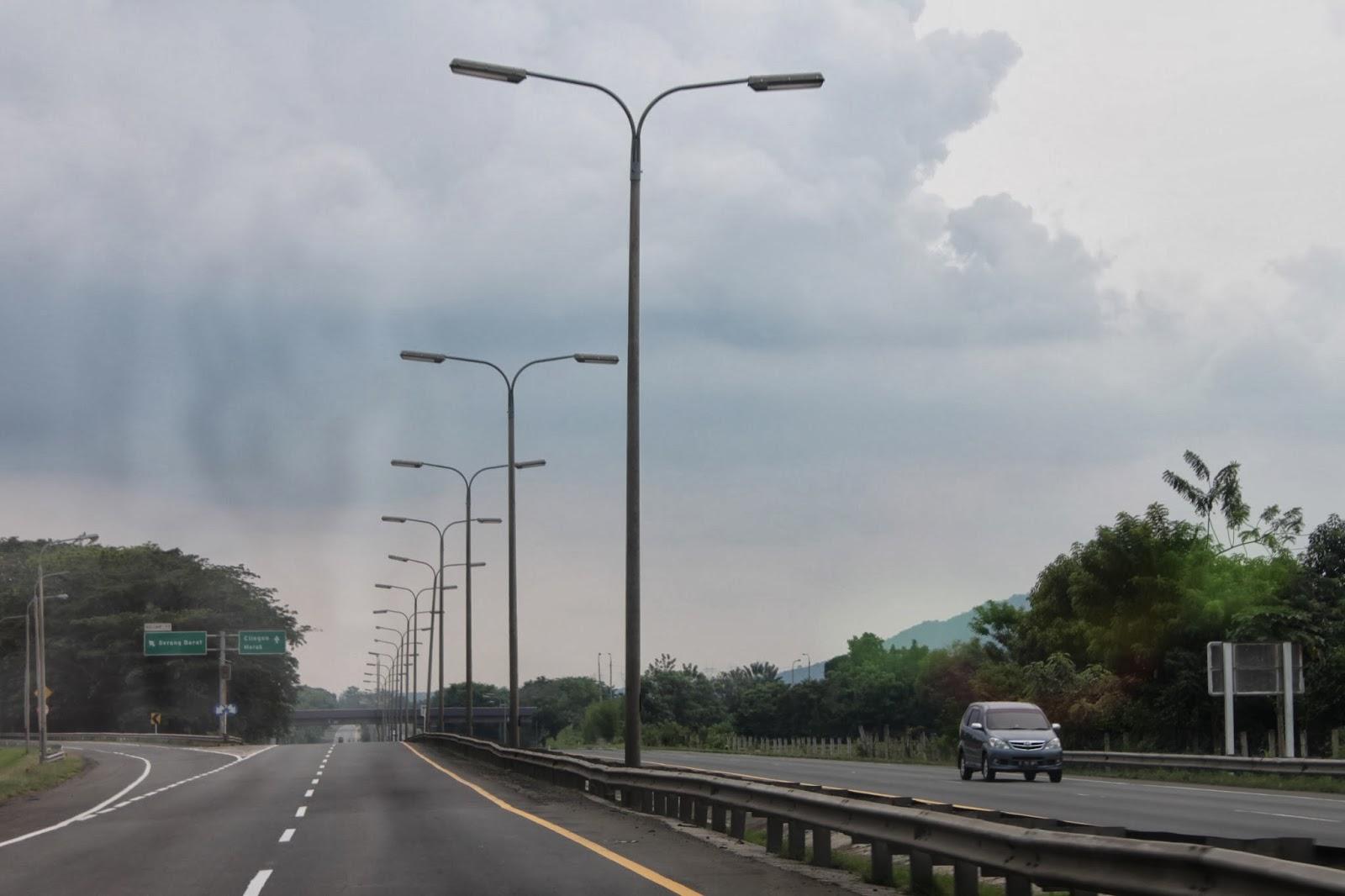 Jalan Tol Tangerang-Merak KM 76,5 Keluar ke Gerbang Tol Serang Barat (arah Merak)