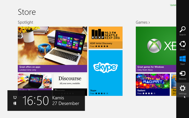 setting windows store