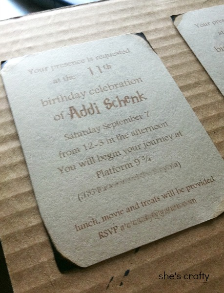 harry potter birthday party, harry potter invitations