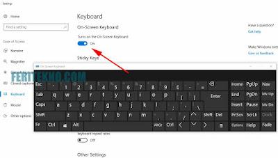 Cara Membuka Virtual Keyboard di PC atau Laptop 2