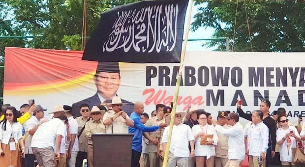 PKS: Emang Salah Bendera Tauhid di Kampanye Prabowo?