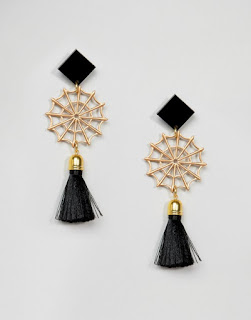Suzy Wan Spider Web Earring - ASOS - Halloween Jewellery