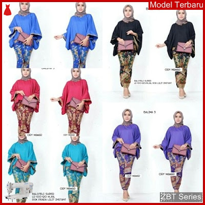 ZBT06909 Kebaya Batik Couple Wanita Batwing Balima BMGShop