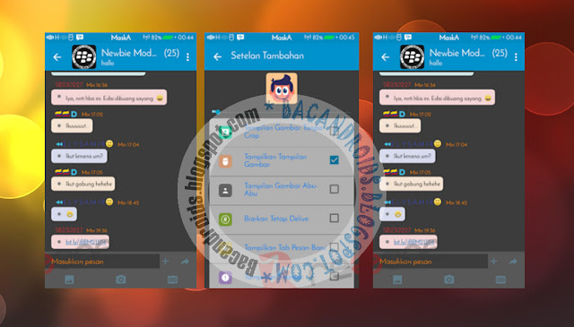 download BBM Mod Terbaru 2.13.1.14 Tema MBlue Dark Apk