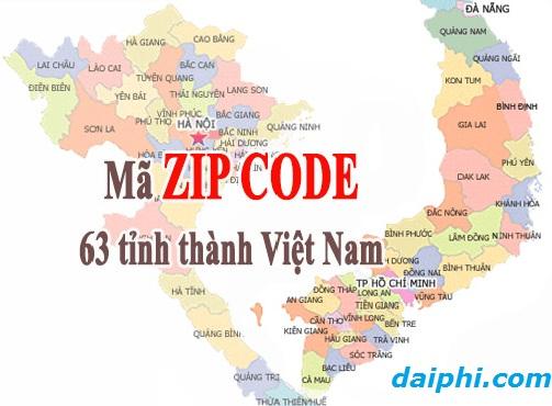 Mã bưu chính 63 tỉnh thành Việt Nam (Zip Postal Code) 2017