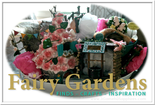 Fairy Garden Finds, Crafts & Inspiration  |  3 Garnets & 2 Sapphires