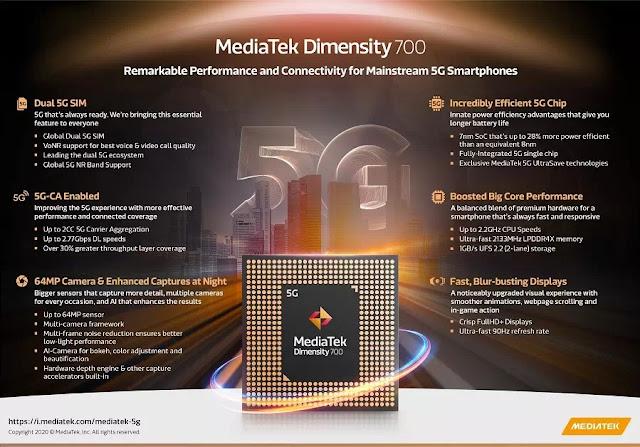Fitur - Fitur  Dimensity 700 5G